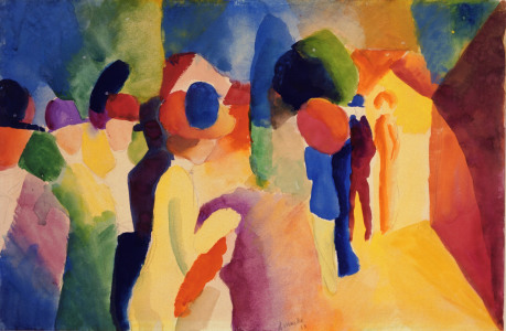 Picture no: 30004636 August Macke, With a Yellow Jacket Created by: Macke, August