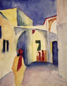 Picture no: 30004638 August Macke / lick in Gasse in Tunis Created by: Macke, August