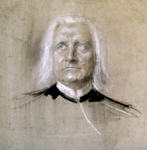 Picture no: 30004654 Franz Liszt / Pastel by Lenbach / c.1885 Created by: Lenbach, Franz