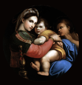 Picture no: 30004690 After Raphael / Madonna della Sedia Created by: Raffaello Santi (Raffael)