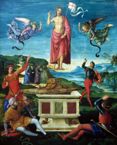 Picture no: 30004698 Raphael/The Resurrection o.Christ/c.1499 Created by: Raffaello Santi (Raffael)