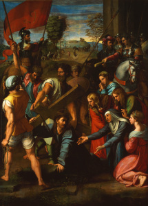 Picture no: 30004730 Raphael/Christ carrying the Cross/c.1516 Created by: Raffaello Santi (Raffael)