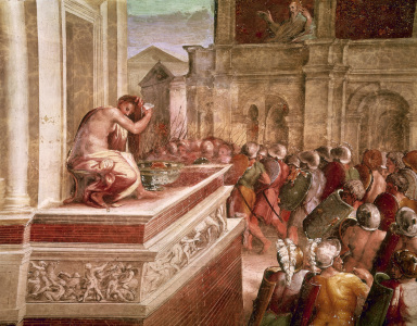Picture no: 30004734 Raphael / David and Bathsheba / Fresco Created by: Raffaello Santi (Raffael)