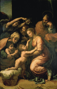 Picture no: 30004754 Raphael / Large Holy Family / 1518 Created by: Raffaello Santi (Raffael)