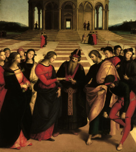 Picture no: 30004762 Raphael / Marriage of Mary / 1504 Created by: Raffaello Santi (Raffael)