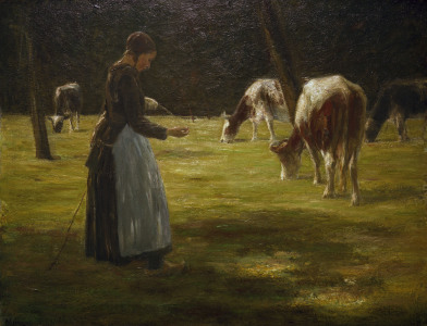 Picture no: 30004936 Liebermann / Cow maid / 1890/98 Created by: Liebermann, Max