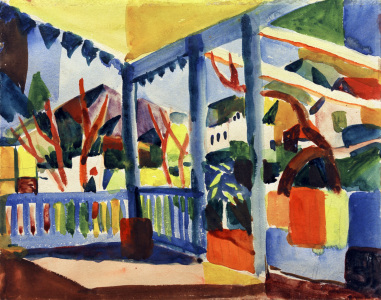 Picture no: 30005072 A.Macke / Terrace in St.Germain / 1914 Created by: Macke, August
