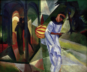 Picture no: 30005076 August Macke, Pierrot Created by: Macke, August
