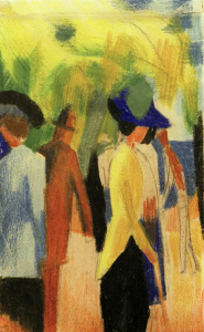 Picture no: 30005108 August Macke, Spaziergänger unter Bäumen Created by: Macke, August
