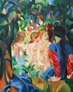 Picture no: 30005110 August Macke, Bathers with Town Created by: Macke, August