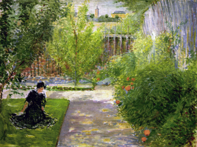 Picture no: 30005116 Macke / Sunny garden / 1908 Created by: Macke, August