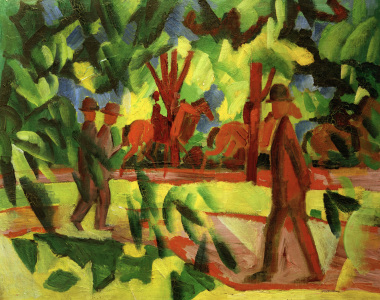 Picture no: 30005120 A.Macke, Reiter u. Spaziergänger, Allee Created by: Macke, August
