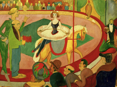 Picture no: 30005122 A.Macke, Circusbild I: Kunstreiterin Created by: Macke, August