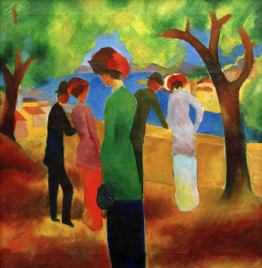 Picture no: 30005124 August Macke, Dame in grüner Jacke Created by: Macke, August