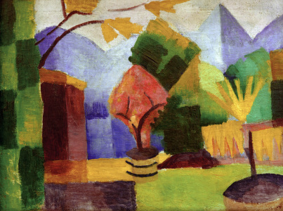 Picture no: 30005232 August Macke, Garten am Thuner See Created by: Macke, August
