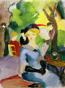 Picture no: 30005240 A.Macke / Figures in the park / 1913 Created by: Macke, August
