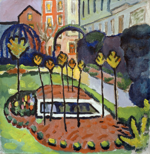 Picture no: 30005250 Garden with pool / August Macke / 1912 Created by: Macke, August