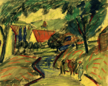 Picture no: 30005252 A.Macke / Village Road in Kandern II Created by: Macke, August