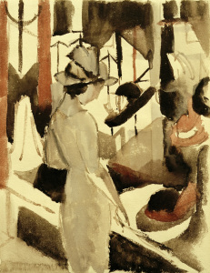 Picture no: 30005274 A.Macke, Frau vor Hutladen Created by: Macke, August