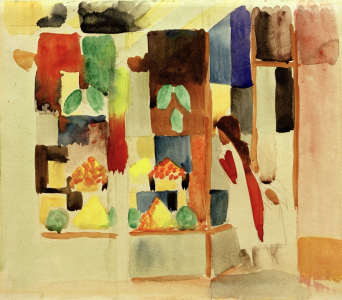 Picture no: 30005278 A.Macke, Kinder am Gemüseladen I, 1913 Created by: Macke, August