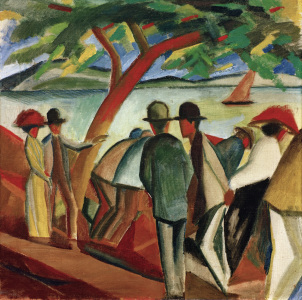 Picture no: 30005318 A.Macke, Spaziergänger am See Created by: Macke, August