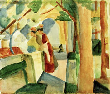 Picture no: 30005330 A.Macke, Auf dem Friedhof von Thun Created by: Macke, August