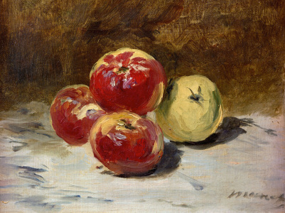 Picture no: 30005338 Manet / Four apples / 1882 Created by: Manet, Edouard