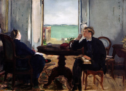 Picture no: 30005362 Edouard Manet, Interieur in Arcachon Created by: Manet, Edouard