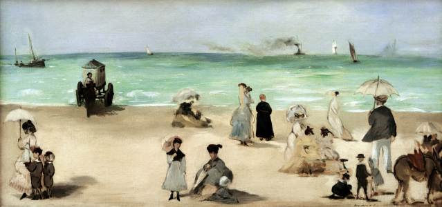 Picture no: 30005378 E.Manet, Beach of Boulogne-sur-Mer Created by: Manet, Edouard