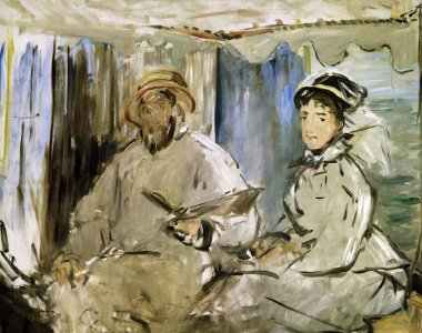 Picture no: 30005388 Claude Monet u.Camille Monet/ E.Manet Created by: Manet, Edouard