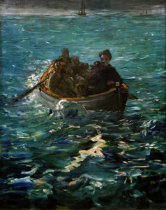 Picture no: 30005398 Henri Rocheforts Flucht / Gem.v.E.Manet Created by: Manet, Edouard