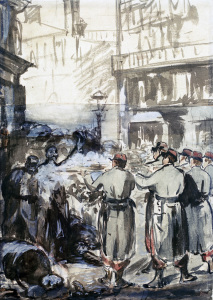 Picture no: 30005408 E. Manet / The Barricades / 1871 Created by: Manet, Edouard