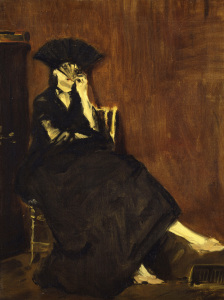 Picture no: 30005430 Morisot, Berthe / Paint.by Manet / 1872 Created by: Manet, Edouard