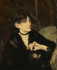 Picture no: 30005480 Berthe Morisot with fan / Manet / 1874 Created by: Manet, Edouard