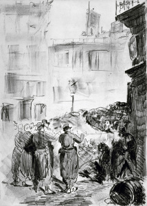 Picture no: 30005484 Manet / The barricade / 1871 Created by: Manet, Edouard