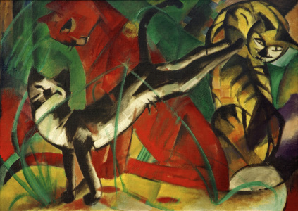 Picture no: 30005508 Marc / Three cats / 1913 Created by: Marc, Franz