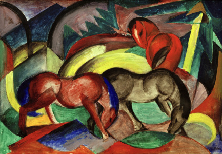 Picture no: 30005516 Marc / Three Horses / 1912 Created by: Marc, Franz