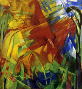 Picture no: 30005524 Franz Marc, Bild mit Rindern Created by: Marc, Franz