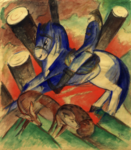 Picture no: 30005538 Franz Marc / Saint Julian / Paint./ 1913 Created by: Marc, Franz
