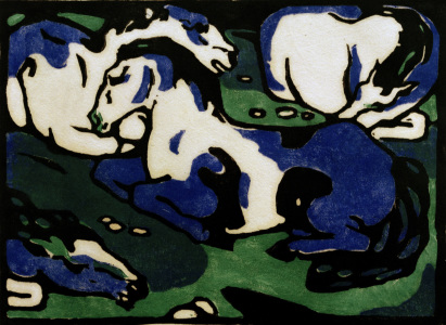 Picture no: 30005546 Franz Marc, Ruhende Pferde Created by: Marc, Franz