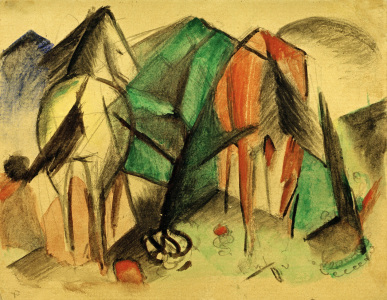 Picture no: 30005558 Franz Marc, Zwei Pferde Created by: Marc, Franz