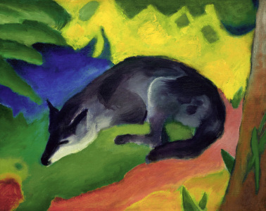 Picture no: 30005560 Franz Marc / Black and Blue Fox. Created by: Marc, Franz