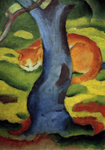 Picture no: 30005562 Franz Marc, Cat under a tree. Created by: Marc, Franz