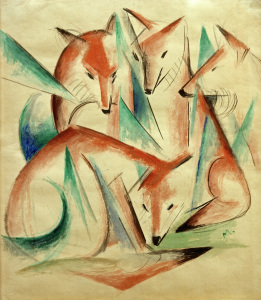 Picture no: 30005574 Marc / Four Foxes / 1913 Created by: Marc, Franz