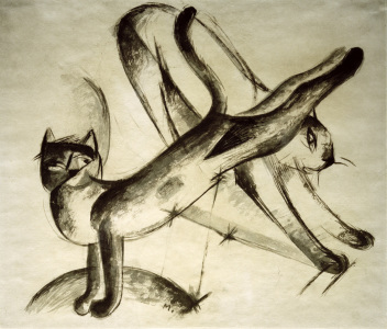 Picture no: 30005594 Franz Marc, Cats playing / 1912/13 Created by: Marc, Franz