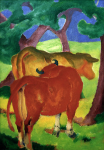 Picture no: 30005618 Marc / Cows under trees / 1910-11 Created by: Marc, Franz