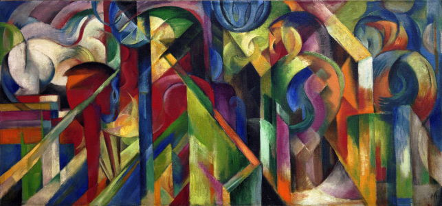 Picture no: 30005640 Franz Marc / Stables / 1913 Created by: Marc, Franz