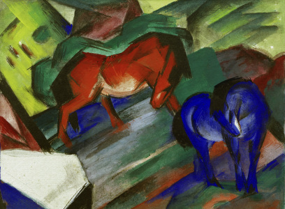 Picture no: 30005646 Franz Marc / Red and Blue Horses / 1912 Created by: Marc, Franz