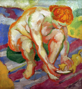 Picture no: 30005666 Marc / Nude with cat / 1910 Created by: Marc, Franz