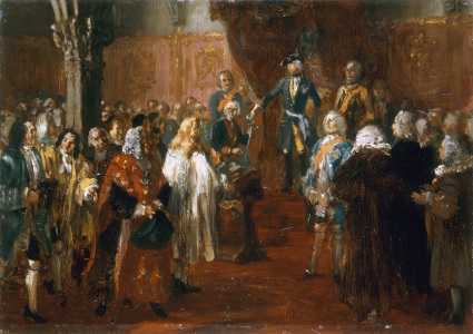 Picture no: 30005688 Frederick II receives homage in Silesia Created by: von Menzel, Adolph Friedrich Erdmann